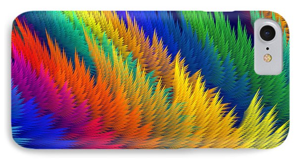 Computer Generated Abstract Fractal Flame Phone Case by Keith Webber Jr