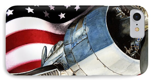 Corsair And Flag IPhone Case by Shari Nees