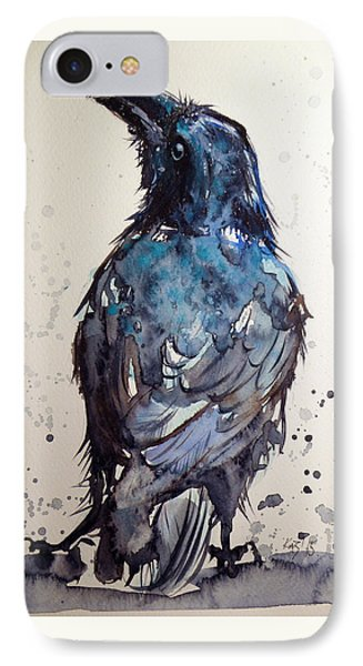 Crow IPhone Case by Kovacs Anna Brigitta