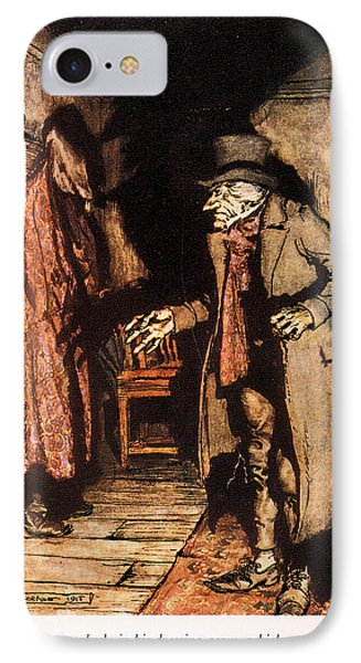 Dickens A Christmas Carol IPhone Case by Granger