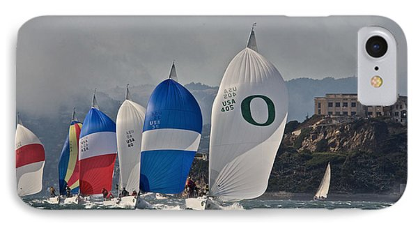 Downwind At Alcatraz IPhone Case by Steven Lapkin