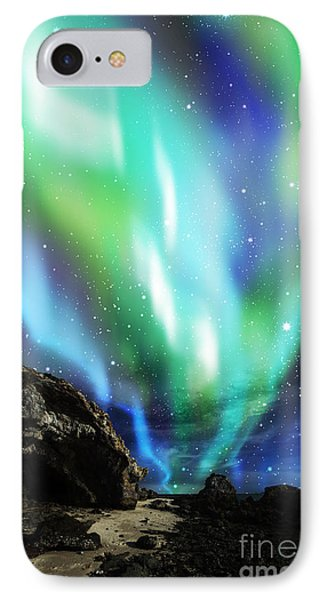 Dramatic Aurora IPhone Case by Atiketta Sangasaeng