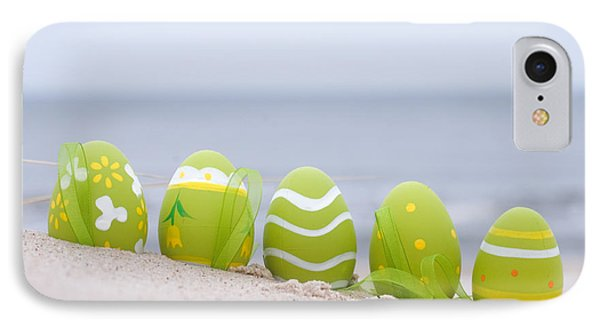 Easter Decorated Eggs On Sand Phone Case by Michal Bednarek