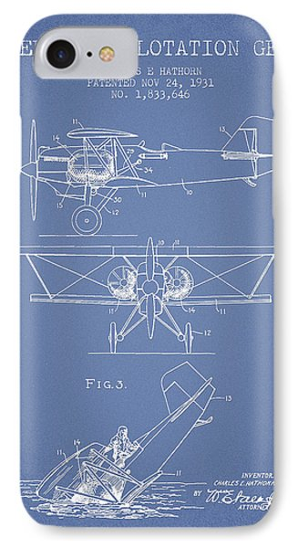 Emergency Flotation Gear Patent Drawing From 1931 IPhone Case by Aged Pixel