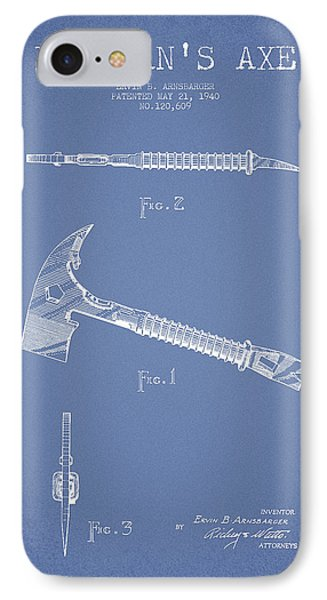 Fireman Axe Patent Drawing From 1940 IPhone Case by Aged Pixel