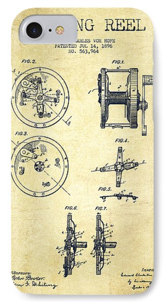 Fishing Reel Patent From 1896 IPhone Case by Aged Pixel