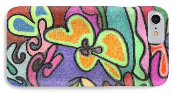 Fluid Flowers IPhone Case by Christine Perry