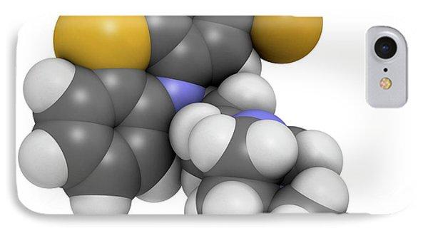 Fluphenazine Antipsychotic Drug Molecule IPhone Case
