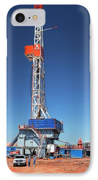 Fracking Drill Rig IPhone Case