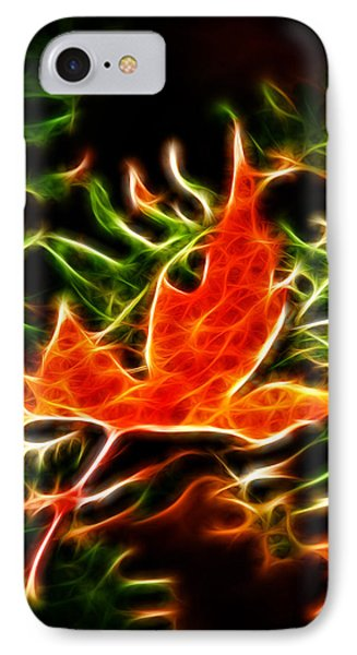 Fractal Maple Leaf Phone Case by Andre Faubert