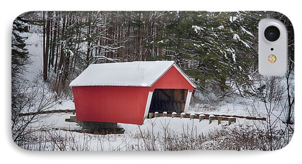Gifford Covered Bridge In East Randolph Vermont IPhone Case