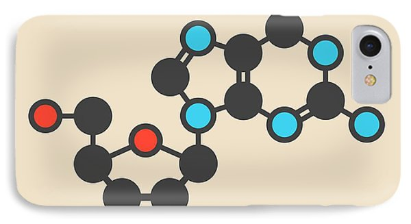 Guanosine Purine Nucleoside Molecule IPhone Case