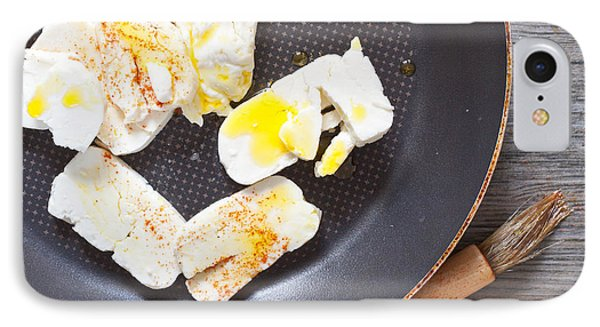Halloumi Cheese Phone Case by Tom Gowanlock