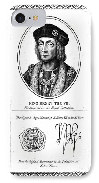 Henry Vii (1457-1509) IPhone Case by Granger