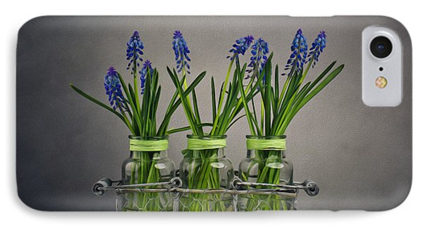 Hyacinth Still Life IPhone Case by Nailia Schwarz