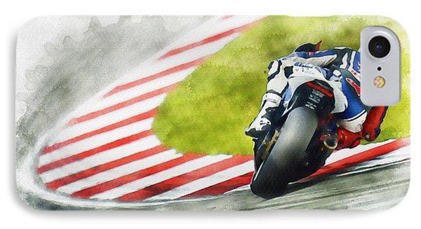 Jorge Lorenzo - Team Yamaha Racing IPhone Case