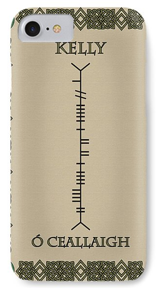 IPhone Case featuring the digital art Kelly Written In Ogham by Ireland Calling