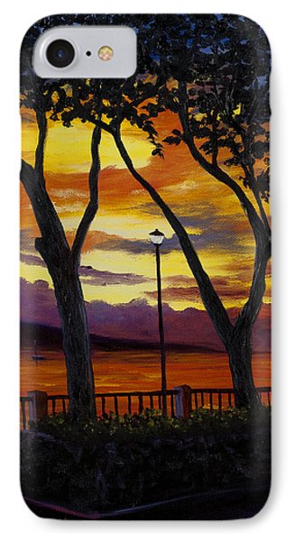 IPhone Case featuring the painting Lahaina Sunset by Darice Machel McGuire