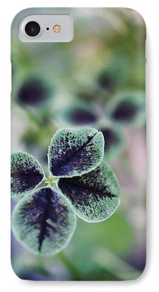 4 Leaf Clover IPhone Case by Nancy Ingersoll