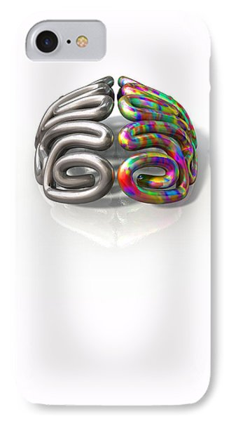 Left And Right Brain Concept IPhone Case by Allan Swart