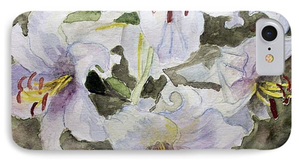 4 Lilys Of White IPhone Case by Carol Grimes