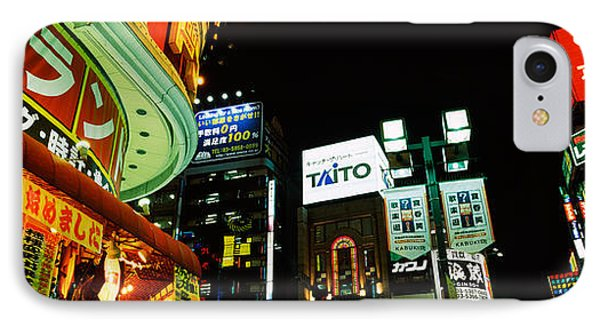 Low Angle View Of Buildings Lit IPhone Case by Panoramic Images
