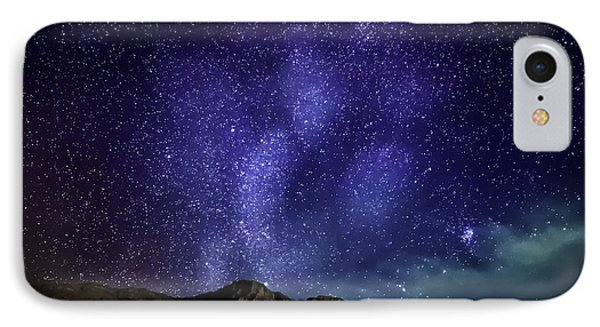 Milky Way Galaxy With Aurora Borealis IPhone Case by Panoramic Images