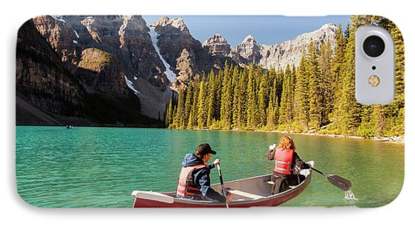 Moraine Lake In The Canadian Rockies IPhone Case