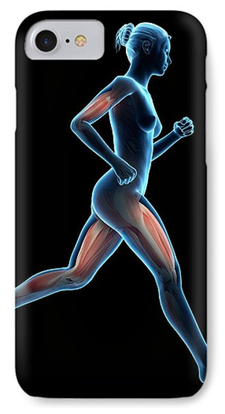 Muscular System Of A Runner IPhone Case