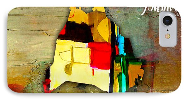 Nashville Map Watercolor Phone Case by Marvin Blaine