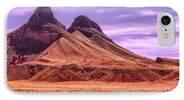 Navajo Nation Series Along 87 And 15 Phone Case by Bob and Nadine Johnston