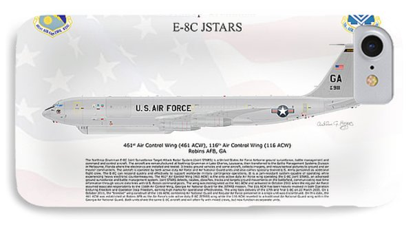IPhone Case featuring the digital art Northrop Grumman E-8c Jstars by Arthur Eggers