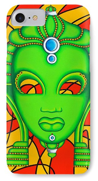 IPhone Case featuring the painting Nubian Modern Mask by Joseph Sonday
