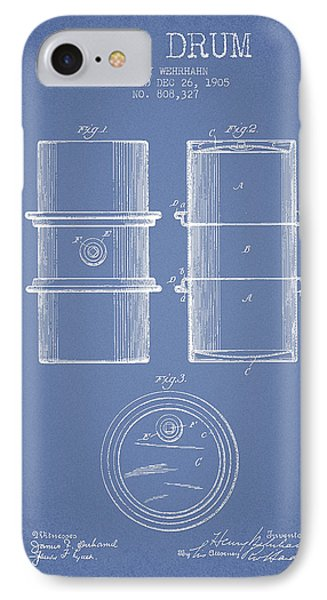 Oil Drum Patent Drawing From 1905 IPhone Case