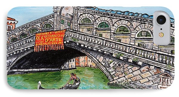 Ponte Di Rialto IPhone Case by Loredana Messina