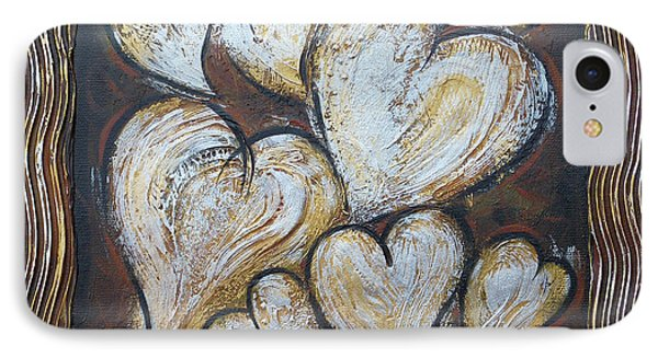 IPhone Case featuring the painting Precious Hearts 301110 by Selena Boron