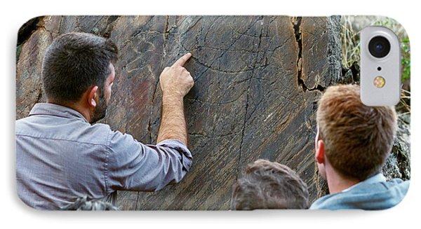 Prehistoric Rock Art IPhone Case by Babak Tafreshi