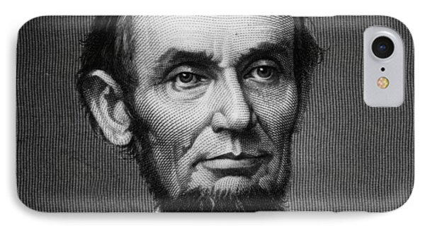 President Abraham Lincoln IPhone Case by MotionAge Designs