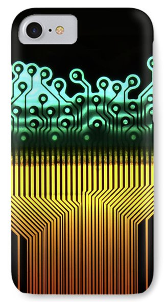 Printed Circuit IPhone Case by Alfred Pasieka
