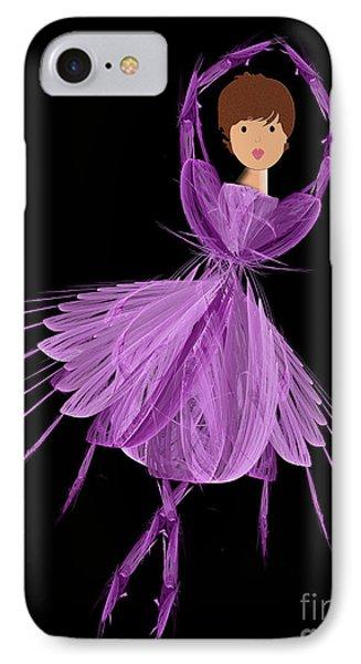 4 Purple Ballerina Phone Case by Andee Design
