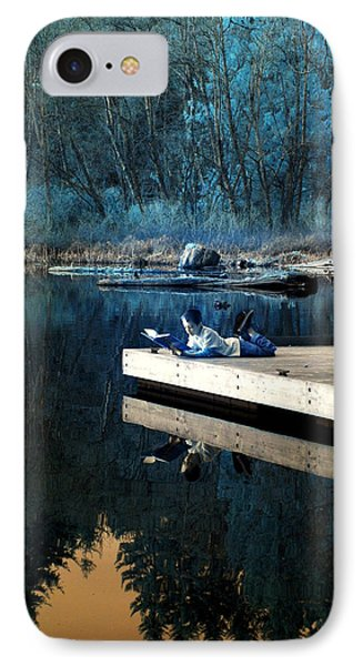IPhone Case featuring the photograph Quiet Moments Reading by Rebecca Parker