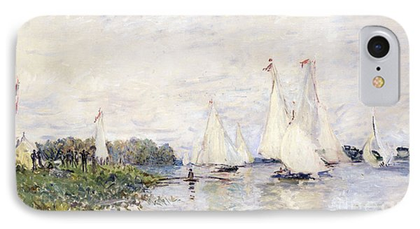 Regatta At Argenteuil Phone Case by Claude Monet
