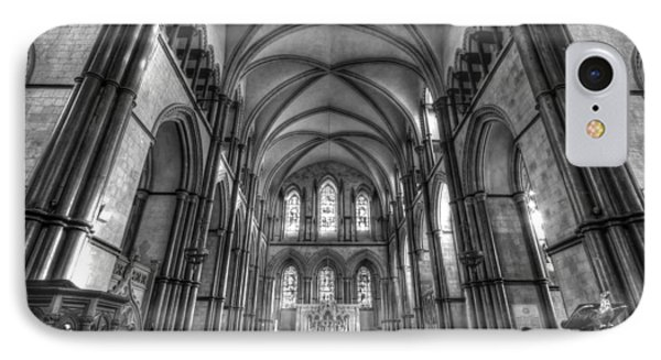 Rochester Cathedral Interior Hdr. IPhone Case by David French