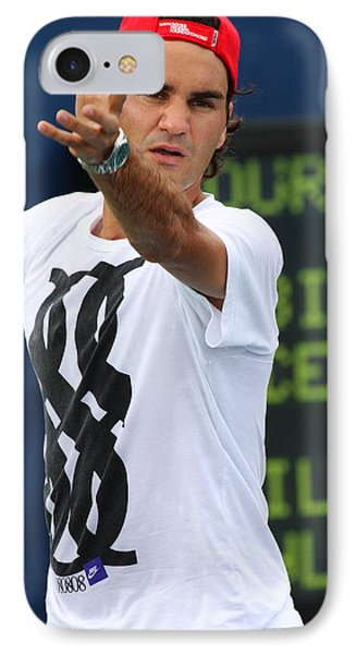 Roger Federer IPhone Case by James Marvin Phelps
