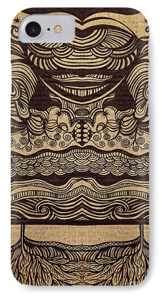 Sharpie On Cardboard IPhone Case by HD Connelly