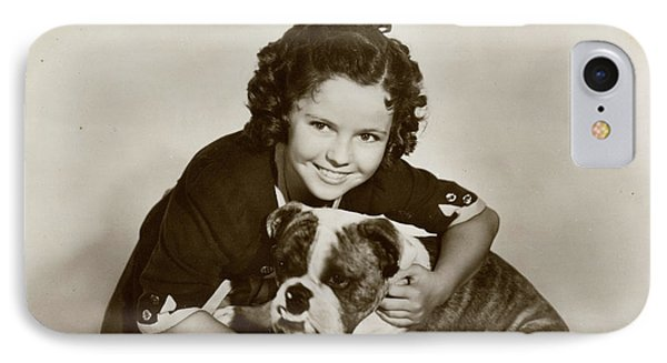 Shirley Temple iPhone 7 Case - Shirley Temple (1928 -2014), American by Mary Evans Picture Library