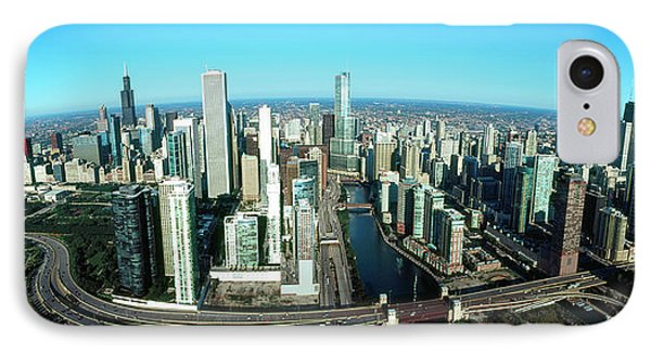 Skyscrapers In A City, Willis Tower IPhone Case by Panoramic Images