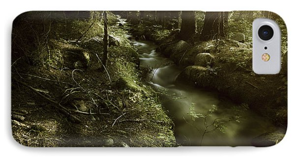 Small Stream In A Forest At Sunset Phone Case by Evgeny Kuklev