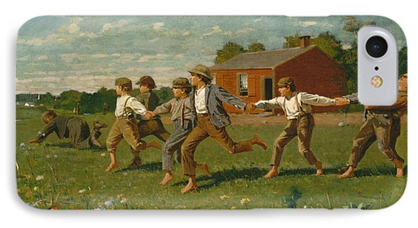 Snap The Whip IPhone Case by Winslow Homer