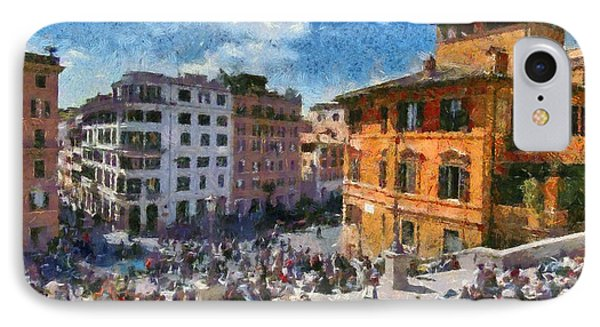 Spanish Steps At Piazza Di Spagna Phone Case by George Atsametakis